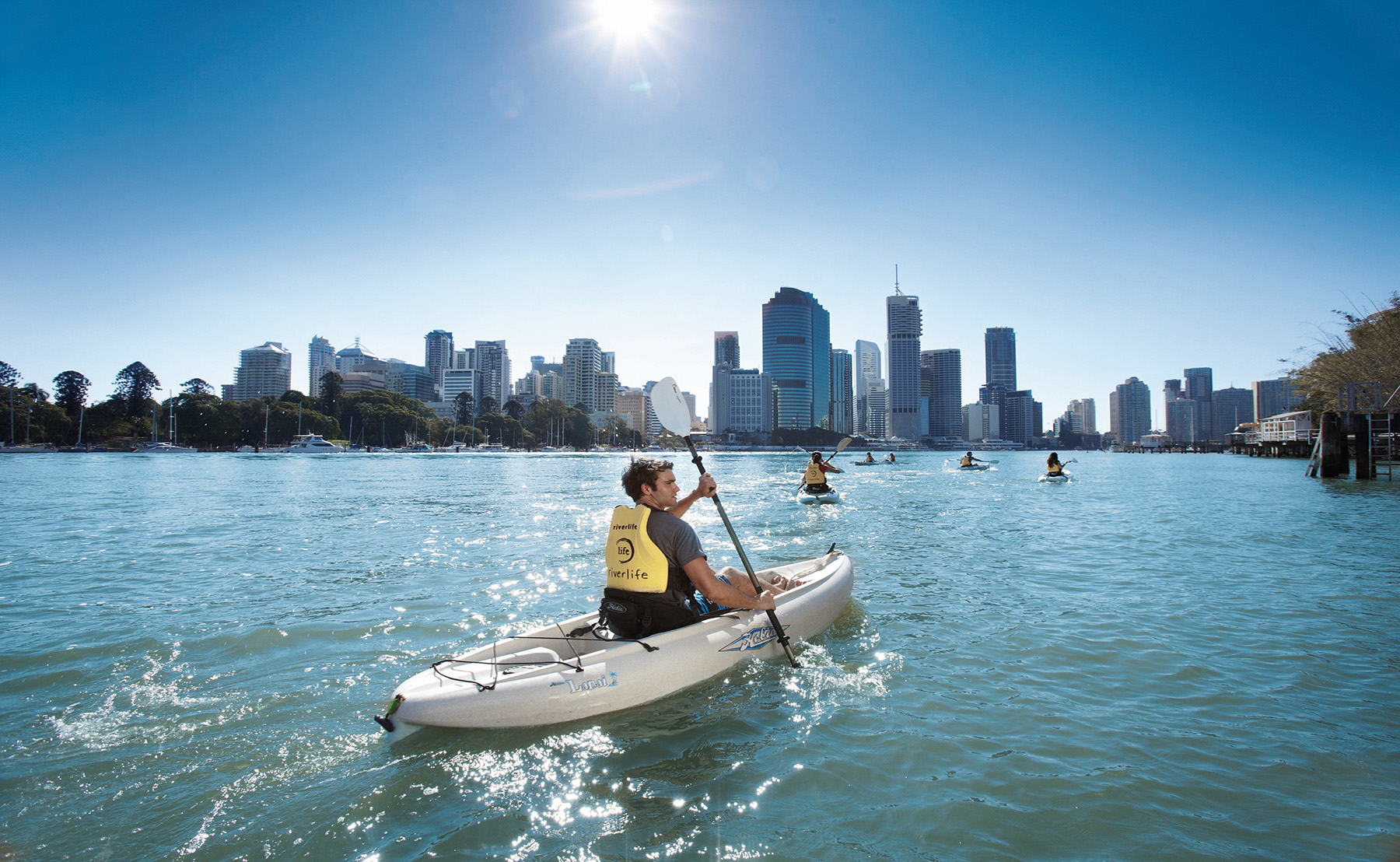 Kayaking on the Brisbane River, Brisbane  (Photo: Tourism and Events QLD)